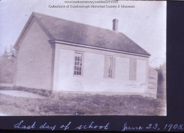 Original Oak Hill School, Scarborough, June 23, 1905