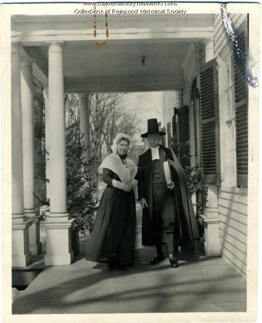 Chauncey and Annie Goodrich, Brunswick, ca. 1915