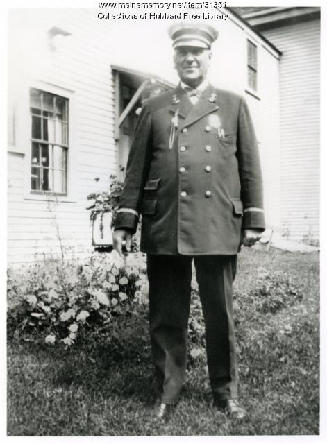 Luther F. Gray, City Marshall, Hallowell, 1931