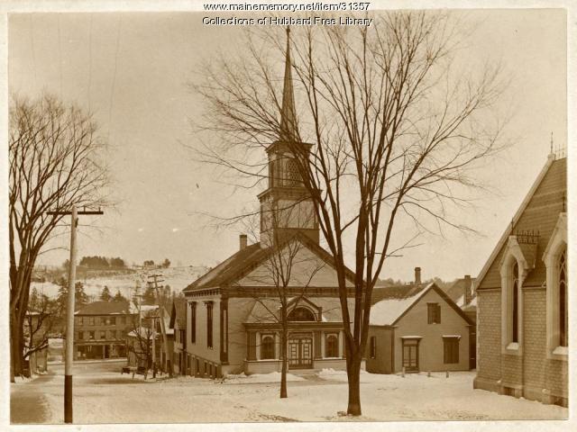 Universalist Church, Hallowell, ca. 1900