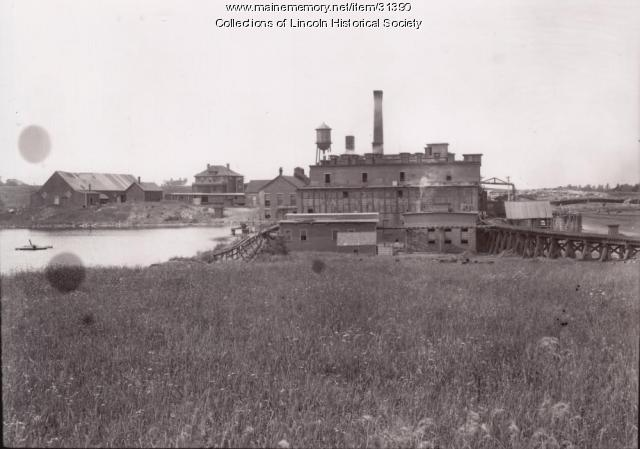 Pulp Mill, Penobscot River, 1902