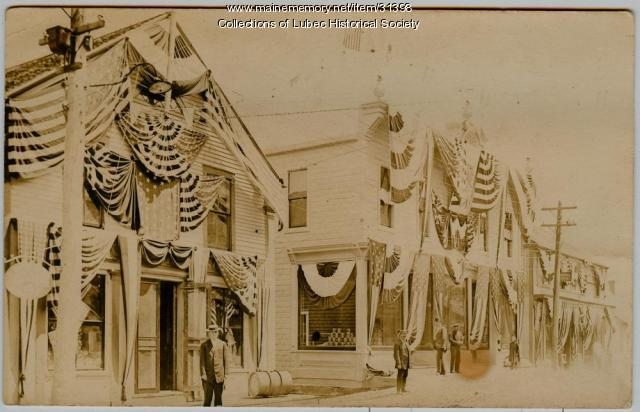 Centennial on Water Street, Lubec, 1911