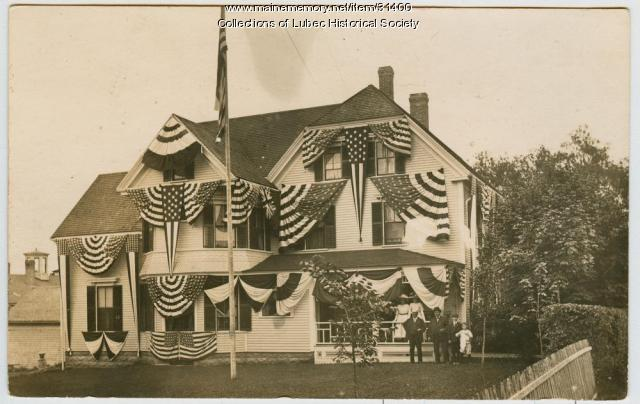 Centennial house decoration, Lubec, 1911