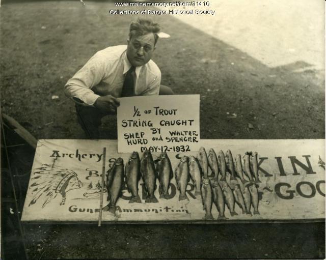 """Everett S. """"Shep"""" Hurd, Bangor, 1932"""