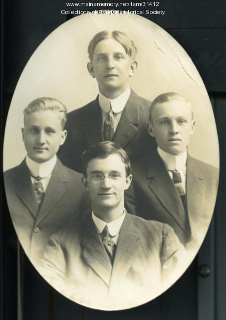 "Everett S. ""Shep"" Hurd and friends, Bangor, ca. 1917"