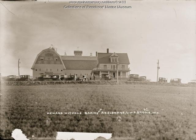Howard Nichols barn and residence, Limestone, 1922