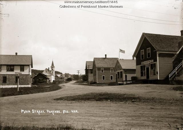 Main Street, Portage Lake, ca. 1915