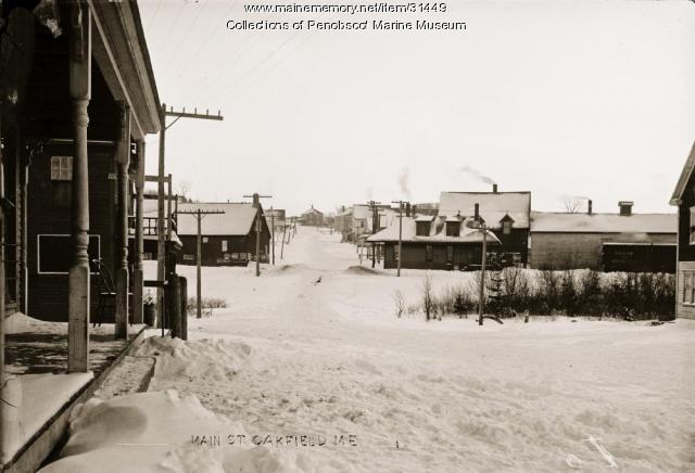 Main Street, Oakfield, ca. 1915