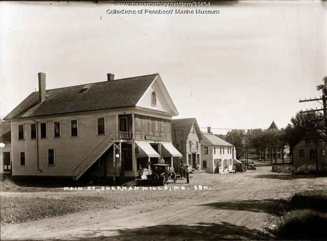 Main Street, Sherman Mills, ca. 1915