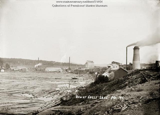 Logs, Eagle Lake, ca. 1915