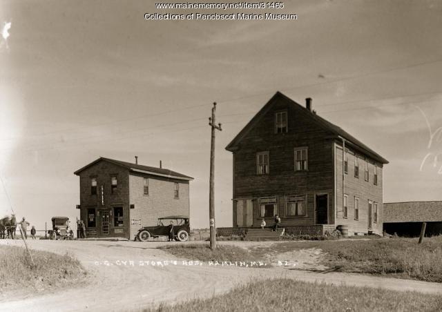 C. G. Cyr Store and residence, Hamlin Plantation, ca. 1920
