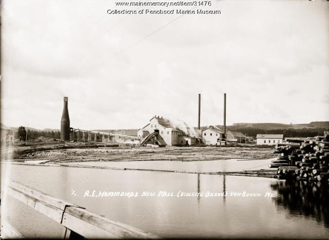 A.E. Hammond's new mill, Van Buren, ca. 1915
