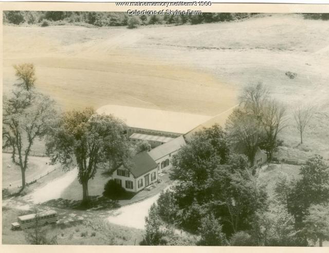 Aerial View of Skyline Farm, ca. 1965