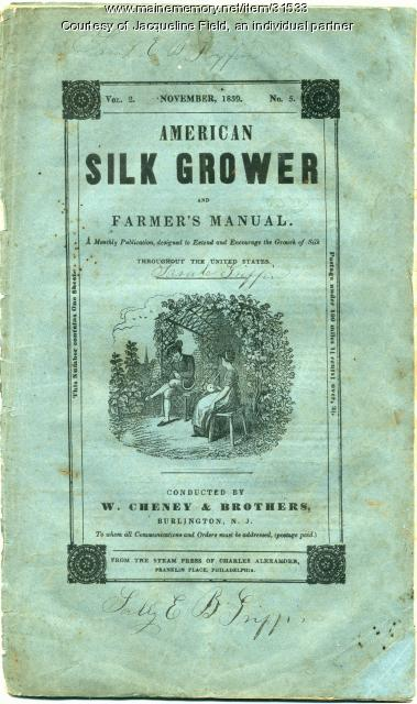 American Silk Grower magazine, 1839