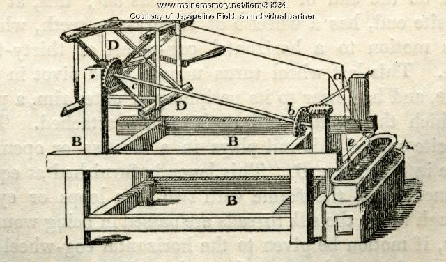 Silk reeling machine, ca. 1830