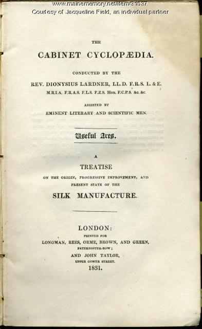 Cabinet Clyclopaedia, London, 1831