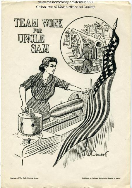 Women's war work illustration, Portland, 1917