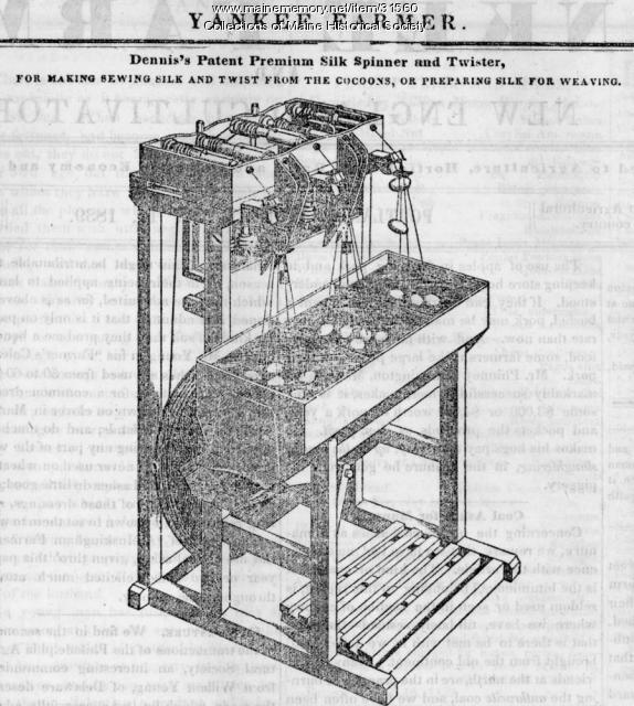 Silk spinner and twister machine, 1839
