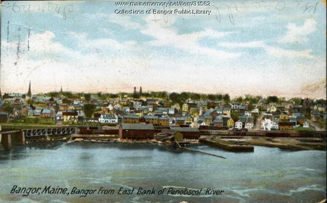 Bangor from the east bank of the Penobscot River, ca. 1905