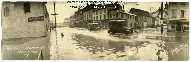 Water Street flooding, Hallowell, 1923