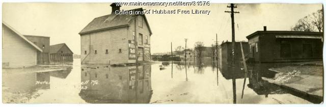 Kennebec River Flood, Hallowell, 1923