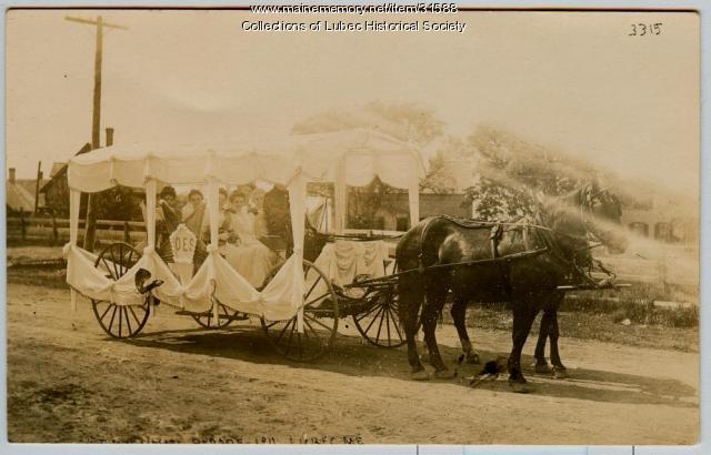 Centennial Eastern Star float, Lubec, 1911