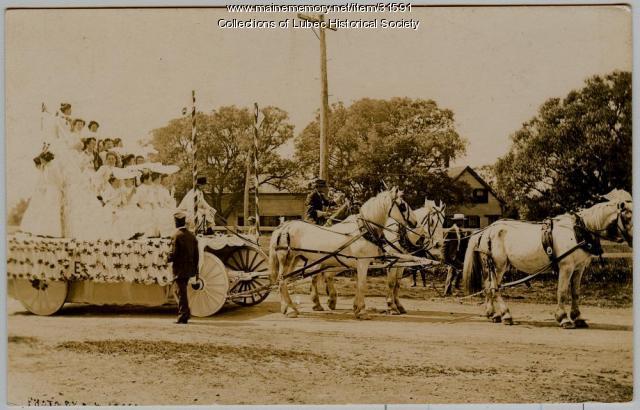 Centennial float, Lubec, 1911