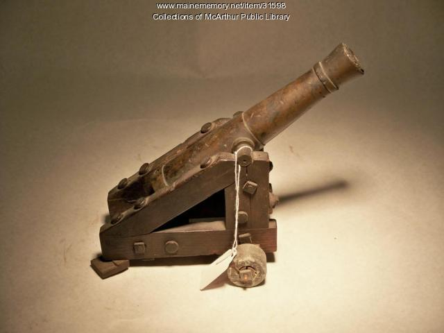 Model cannon made in Biddeford, ca. 1860
