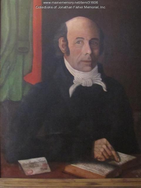 Self portrait by Rev. Jonathan Fisher, Blue Hill, ca. 1824