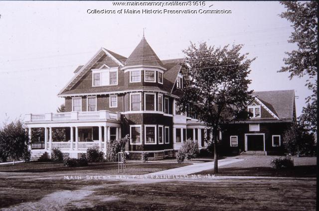Reed house, Main Street, Fort Fairfield, ca. 1910