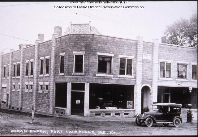 Doran Block, Fort Fairfield, ca. 1920