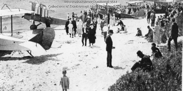 Airplanes on Beach, Scarborough, 1921