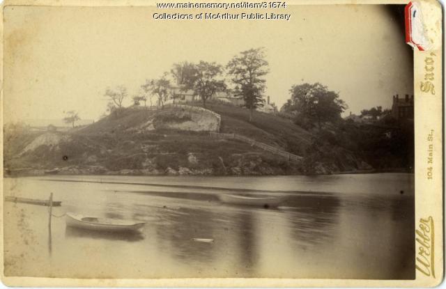Island in Saco River, 1890