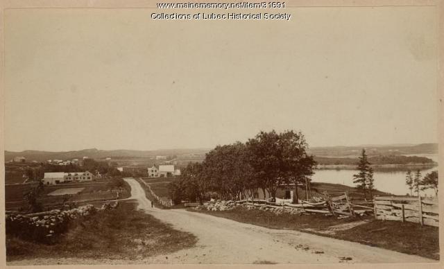 Flatiron Corner, Lubec, ca. 1890