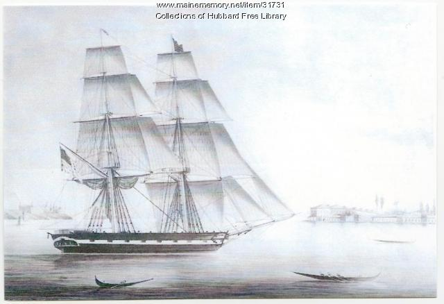 "Hallowell-built ""Topaz,"" 1828"