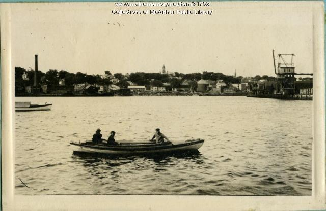 "Ship ""Tremblay"" on the Saco River, ca. 1917"