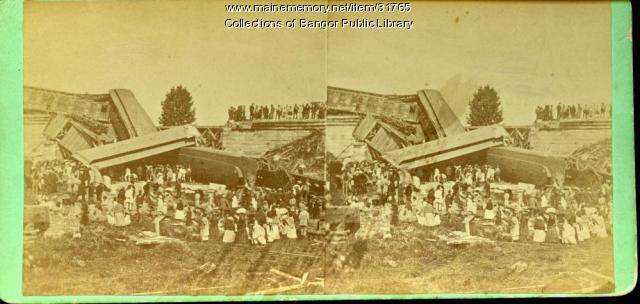 Tin Bridge Wreck, Bangor, 1871