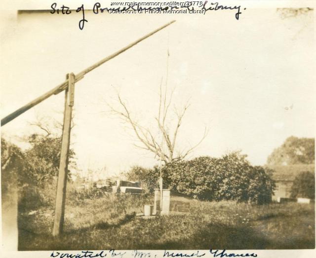 Site of Prince Memorial Library, Cumberland, ca. 1921