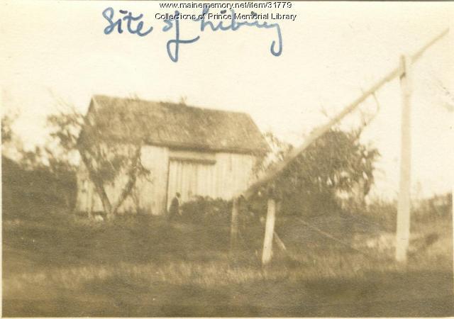 Site of Prince Memorial Library, Cumberland, 1922