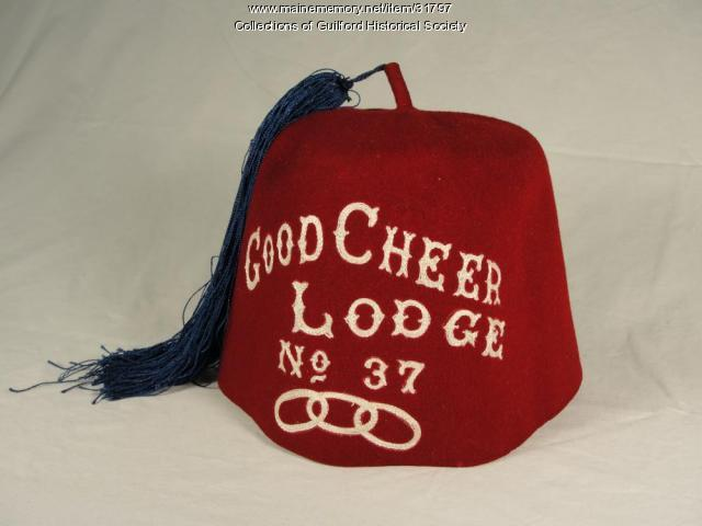 Good Cheer Lodge hat, Guilford, ca. 1875