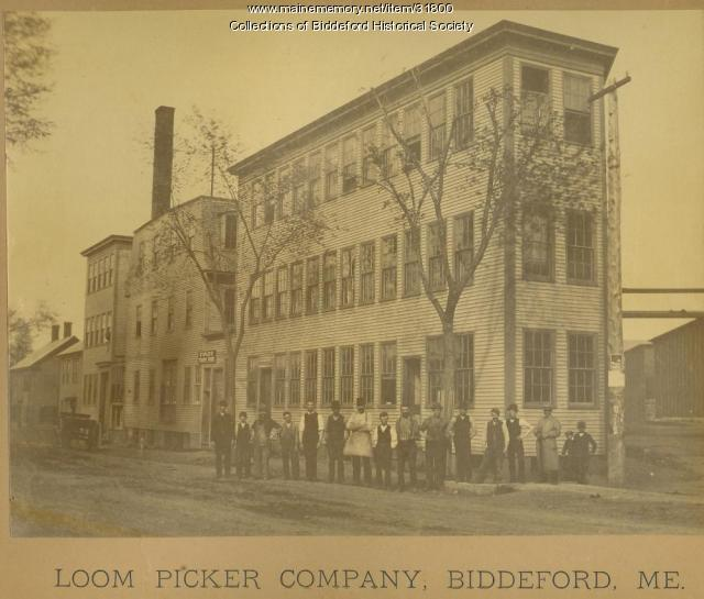 Loom Picker Company, Biddeford, ca. 1873