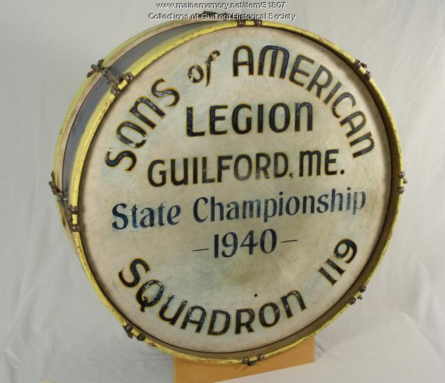 Guilford Sons of American Legion Drum, 1940