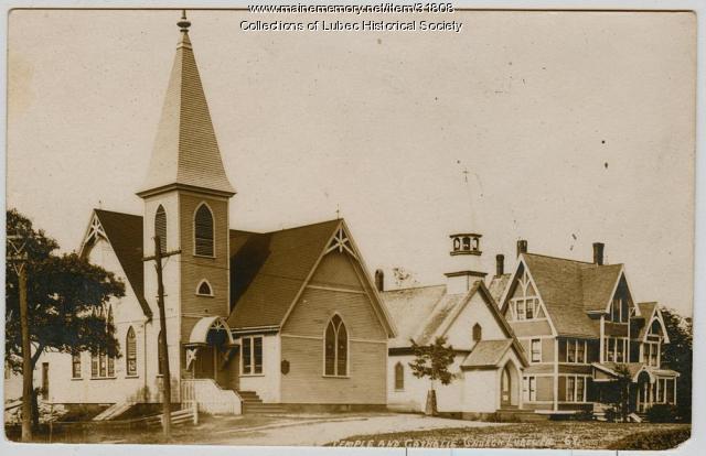 Churches, Lubec, ca. 1908