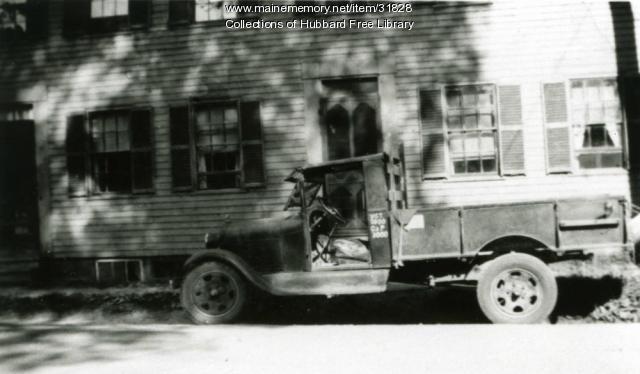 Arthur Moore Ice Truck, Second Street, Hallowell