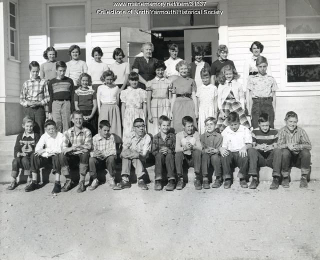 North Yarmouth Memorial School Grades 5 and 6, 1956