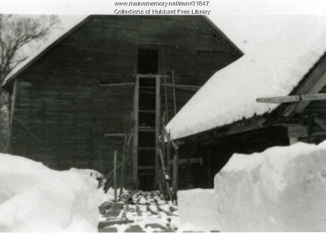 Arthur Moore's Ice House, Hallowell, ca. 1940