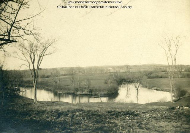 Royal River below Riverside Farm, North Yarmouth, ca. 1900