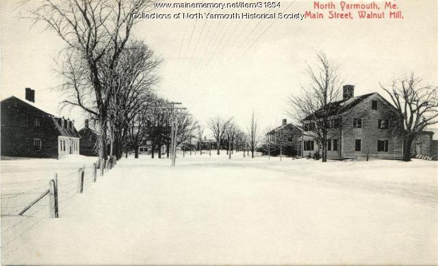 Main Street, Walnut Hill, North Yarmouth, 1910