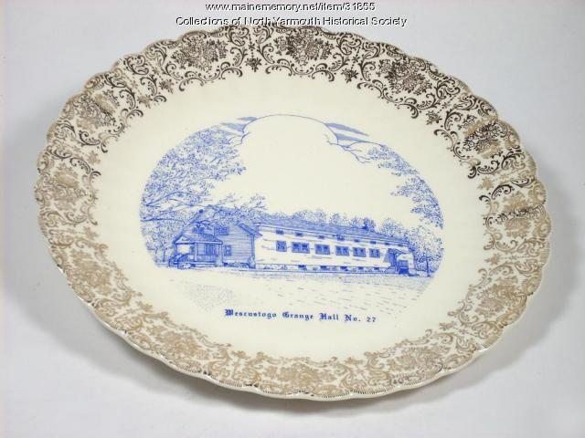 Commemorative Plate, Wescustogo Grange Hall No. 27