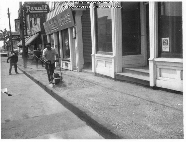 New Water Street sidewalk, Lubec, ca. 1972